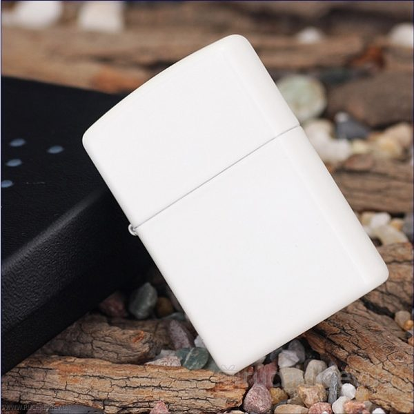 107 Zippo Lighter White Matte 2 Zippo 214