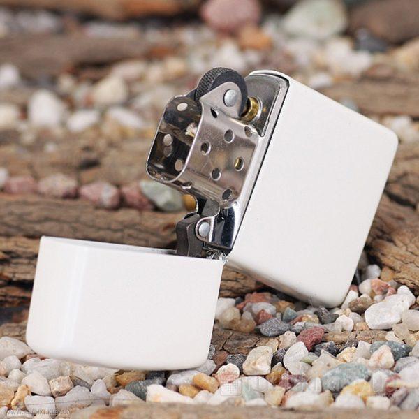 107 Zippo Lighter White Matte 3 Zippo 214