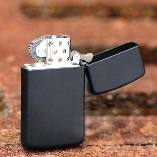 114 Zippo Lighter Black Matte Slim 1 Zippo 1618