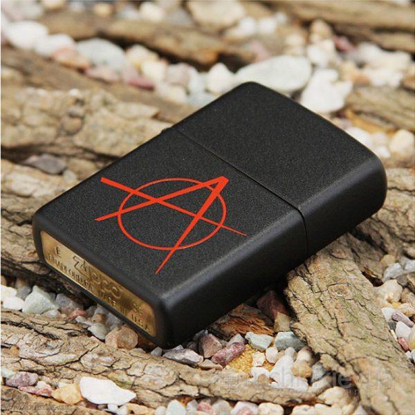 118 Zippo Anarchy Black Matte Lighter 2 Zippo 20842