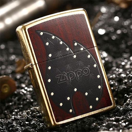 2641 Zippo Upaljač Leather Flame 28832