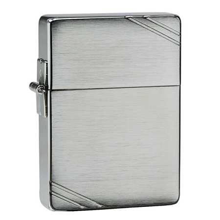 Zippo Replica Brushed Chrome W/Slashes1935