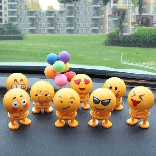 smiley spring doll cute emoji bobble head dolls car ornaments bounce toys 500x500 1